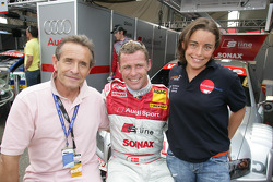 Jacky Ickx, Tom Kristensen and Vanina Ickx