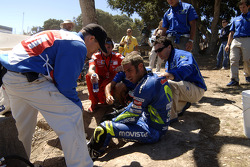 Marco Melandri after his crash