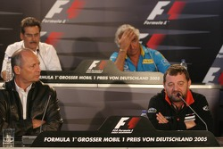 Press conference: Ron Dennis, Paul Stoddart, Dr Mario Theissen and Flavio Briatore