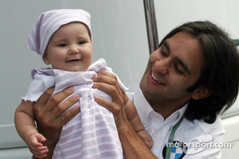 Antonio Pizzonia with his baby