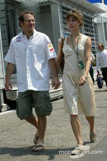 Jacques Villeneuve with girlfriend Ellie Green