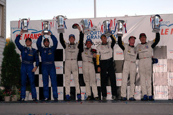GT1 podium: class winners Oliver Gavin and Olivier Beretta, with Ron Fellows and Johnny O'Connell, and Alex Figge and Ryan Dalziel