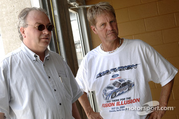 Bernie Marcus, Ford's Chief Aerodynamacist and Eddie Wood of the Wood Brothers Racing Team