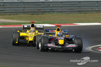 David Coulthard and Tiago Monteiro