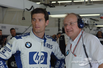 Mark Webber and Prof Burkard Goeschel