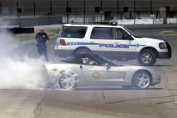 Dale Earnhardt Jr. training with the Roanoke Police Department