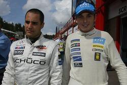 Juan Pablo Montoya and Giancarlo Fisichella