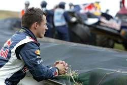Christian Klien after his crash