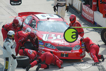 Dale Earnhardt Jr.'s crew look for a break problem that set him back seven laps