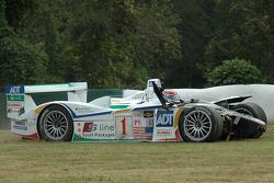 Start: #1 Champion Racing Audi R8: JJ Lehto, Marco Werner after the crash