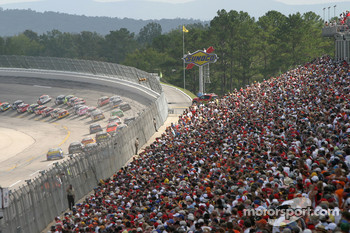 Talladega fans watch turn 1 action