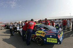 National Guard Ford crew members at tech inspection line