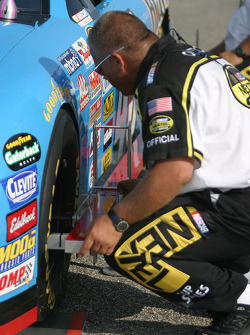 NASCAR official at work