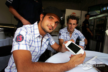 Vitantonio Liuzzi and Christian Klien present the Sony PSP