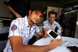 Vitantonio Liuzzi and Christian Klien present the Sony PSP