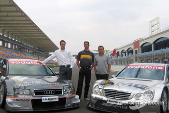 DTM presentation at Istanbul Otodrom: Frank Stippler, Manuel Reuter and Jean Alesi