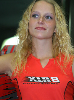 XLR8 press conference: a lovely XLR8 girl
