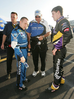 Mark Martin and Carl Edwards