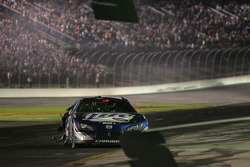 Rusty Wallace in the pit after hitting the wall