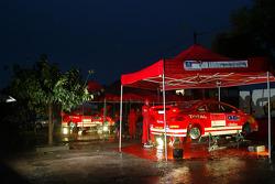 Marlboro Peugeot Total service area at Ajaccio
