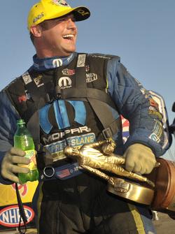 Matt Hagan celebrates