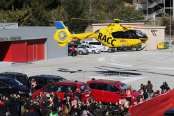 Fernando Alonso, McLaren is taken by helicopter to hospital