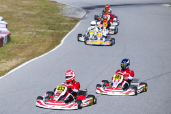 Nelson Piquet Jr. leads a group