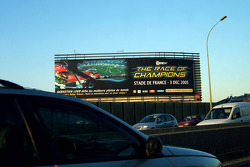 Giant advertising board for The Race of Champions 2005 on the 'Périphérique'