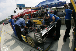 B-K Motorsports team members at work