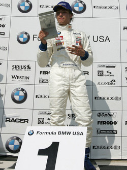 Podium: race winner Edoardo Piscopo