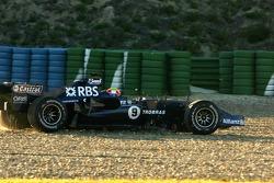 Mark Webber off-track