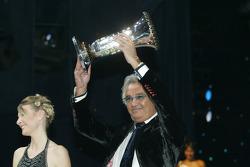 Flavio Briatore celebrates Formula One constructors championship