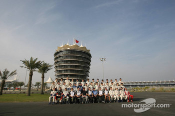 Group picture for the 2005 World Final Formula BMW drivers