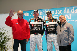 Team Nissan Dessoude presentation: André Dessoude, Jean-Marie Lurquin, Carlos Sousa and Akira Ogushi