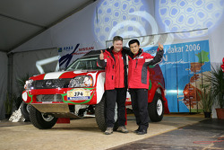 Team Nissan Dessoude public presentation: Zhou Yong and Denis Schurger on stage
