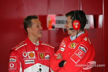 Michael Schumacher and Chris Dyer