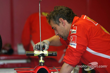 Ferrari team members at work