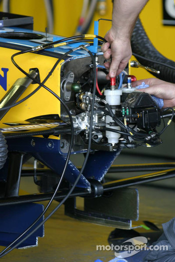 Renault F1 team member at work
