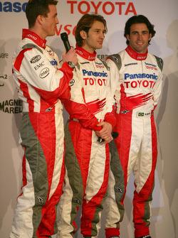 Ralf Schumacher, Jarno Trulli and Ricardo Zonta