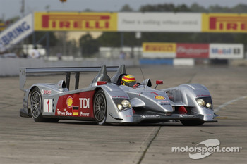 Frank Biela at speed in the Audi R10