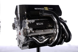 The V8 engine of the new Renault R26