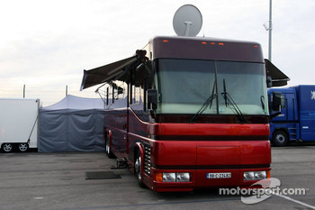 Motorhome of Jenson Button