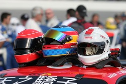 Helmet of the #52 Mastercar Ferrari 360GT drivers
