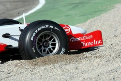 Jarno Trulli in the gravel