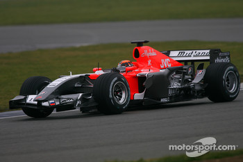 Christijan Albers tests the MF1 Racing M19