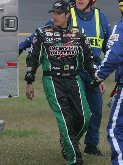 J.J. Yeley gets in the ambulance