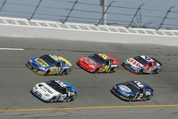 Ryan Newman, Jeff Green, Jeff Gordon, Kurt Busch and Mark Martin