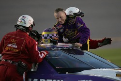 Mark Martin gets out of his car