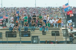 Fans along the backstretch