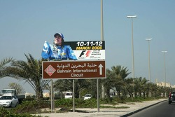 Fernando Alonso gives direction to Bahrain International Circuit